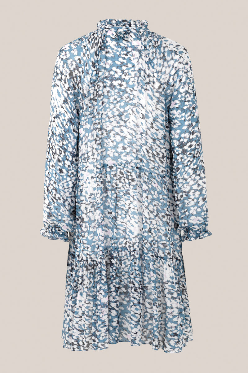 Clouds LS Midi Dress