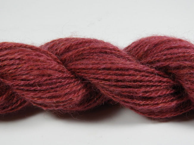 Handspun Alpaca and Wool Yarn: Crayon Red