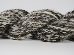 Handspun Corriedale Wool Yarn: Chocolate Vanilla Swirl