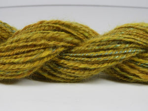 Handspun Wool and Silk Yarn: Summer Meadow