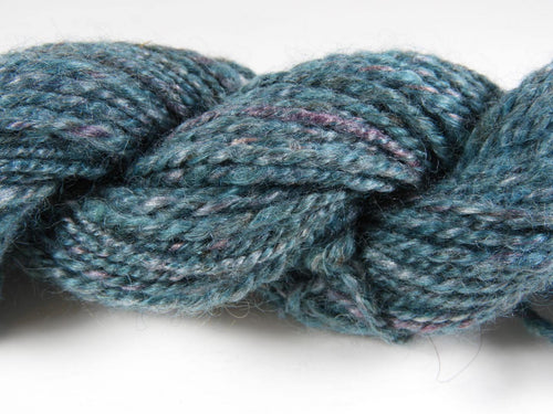 Handspun Wool and Silk Yarn: Amethyst Dream