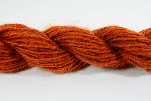 Handspun Border Leicester Wool Yarn: Rhymes with Orange