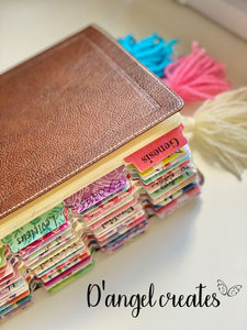 Aleluya Shaker Bookmark with yarn tassel - Single Tone Print