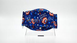 "The ""Captain America Kids""  Natural Cotton Face Mask"