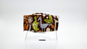 "The ""Happy Jungle Safari"" Natural Cotton Face Mask by DAngelCreates.com"