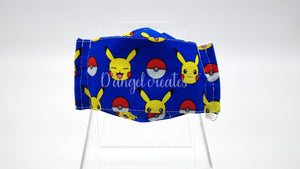 "The ""Pokemon""  Kids Natural Cotton Face Mask by D Angel Creates.com"