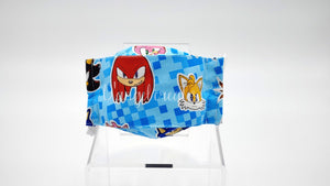 "The ""Sonic The Hedgehog & Friends""  Kids Natural Cotton Face Mask by D Angel Creates.com"