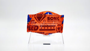 "The ""Sonic the Hedgehog Gotta Go Fast!"" Natural Cotton Face Mask by DAngelCreates.com"
