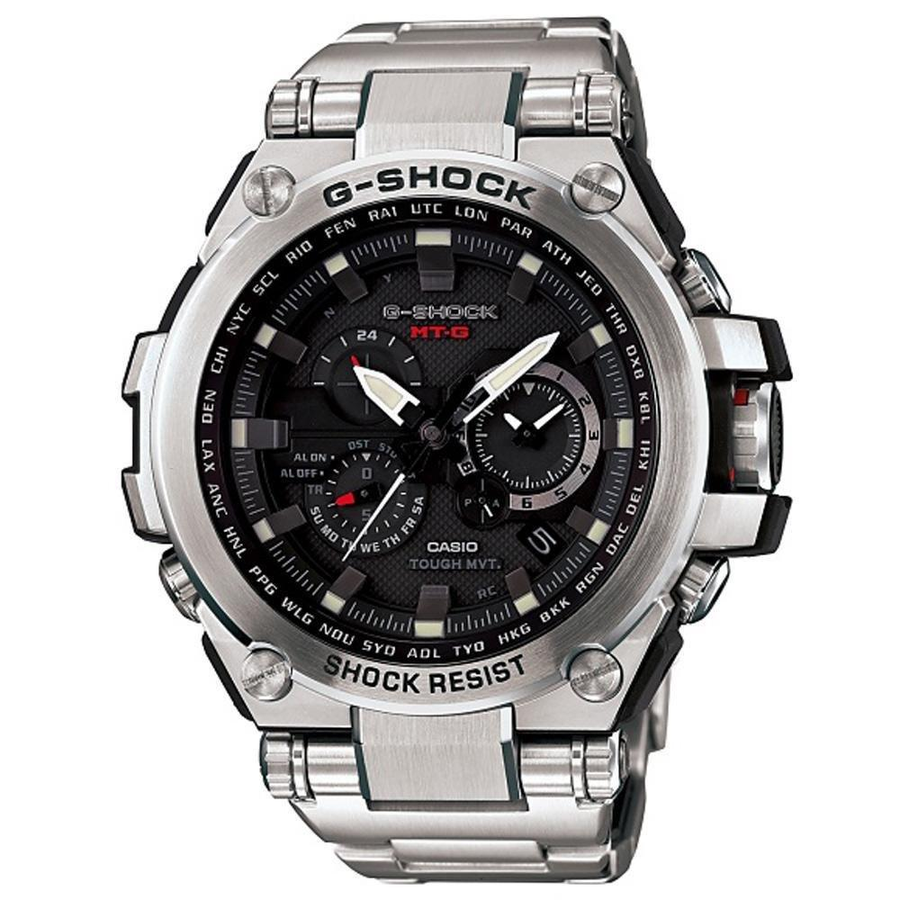 Casio G-Shock Black Dial Stainless Steel Quartz Men's Watch MTGS1000D-1A