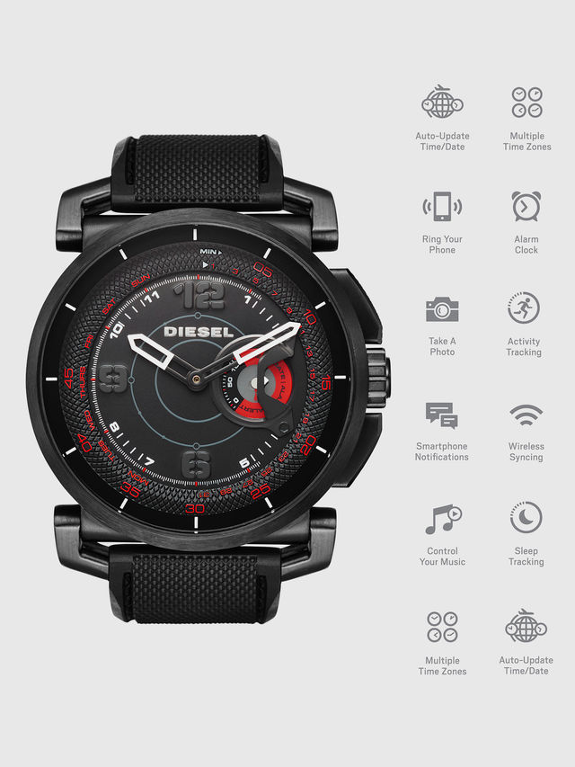 Black hybrid smartwatch