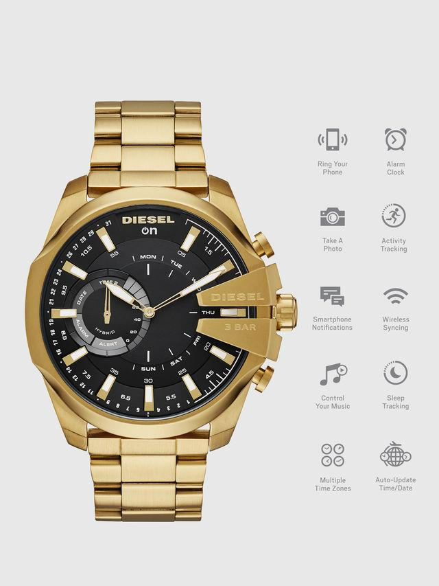 Mega Chief Hybrid gold-tone hybrid smartwatch, 48 mm