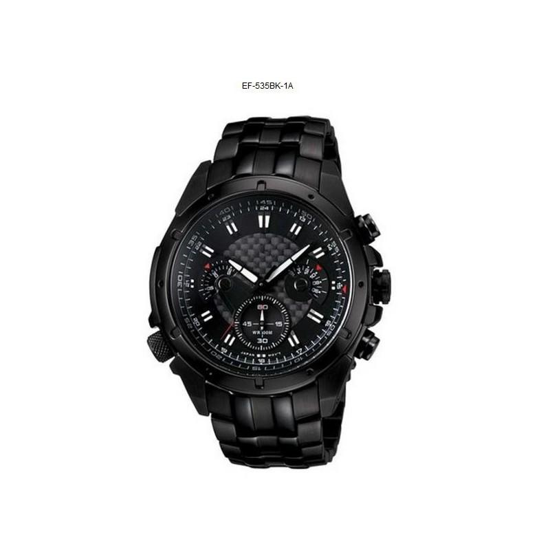CASIO EDIFICE EF535 BK, FULL BLACK CHRONOGRAPH MENS WATCH GIFT