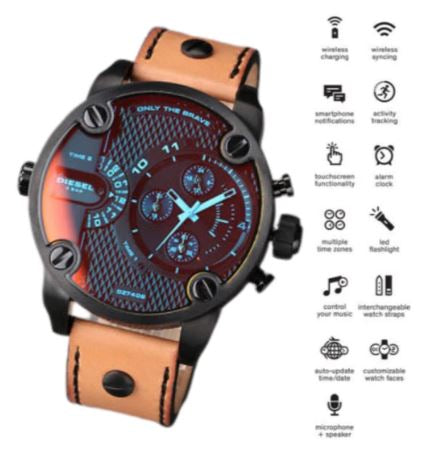 BLACK LITTLE DADDY ANALOG WATCH FOR MEN
