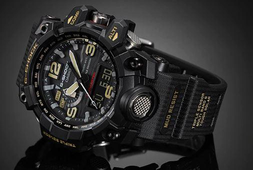 Casio G-Shock Analog-Digital Black Dial Men's Watch - GWG-1000-1A3DR(G652)
