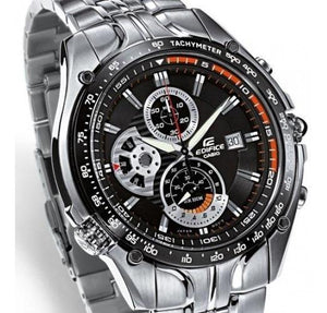Edifice Watches EF-543D-1A Silver Black Dial