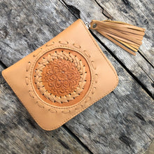 Load image into Gallery viewer, Hand  tooled Leather Aloha Wallet