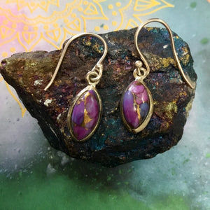 Purple Mohave Sterling Silver Earings