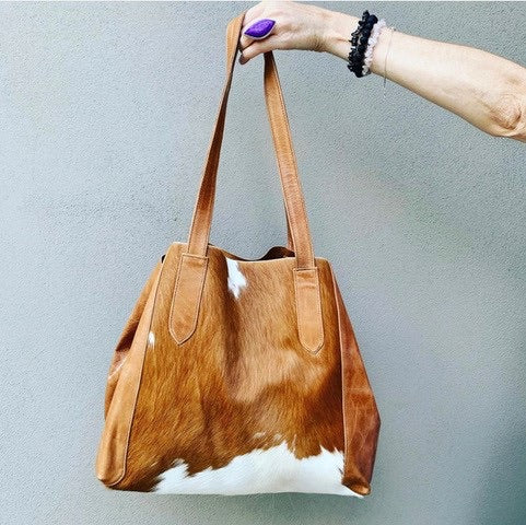 Hide Leather Tote Bag