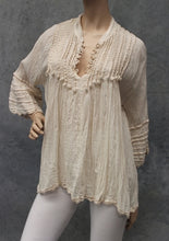 Load image into Gallery viewer, Antique Crochet Trim Blouse