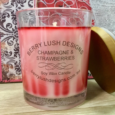 Champagne and Strawberries Candle
