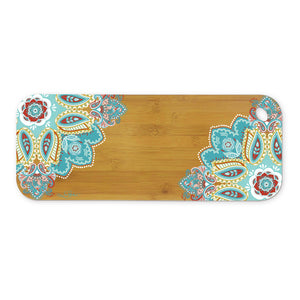 Medium Colourful Mandala Bamboo Serving Platter