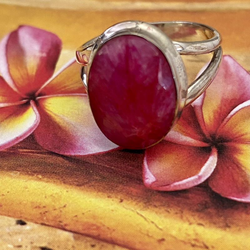 Indian Ruby Sterling Silver Ring