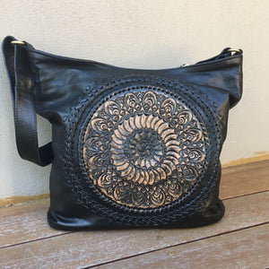 Hand Tooled Boho Mandala Bag