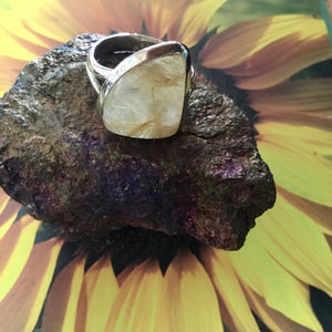 Rutilated Quarts Sterling Silver Ring