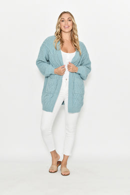 Mint Long Cardigan