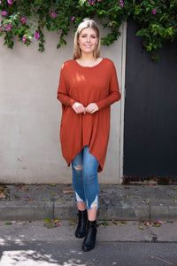 Rust Braxton Sweater