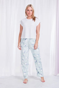 Printed Plush Pyjama Pants