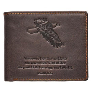 Wallet - Witness Gear Genuine Leather Wallet (Isaiah 40:31)
