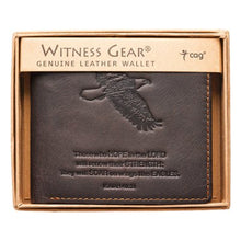 Load image into Gallery viewer, Wallet - Witness Gear Genuine Leather Wallet (Isaiah 40:31)