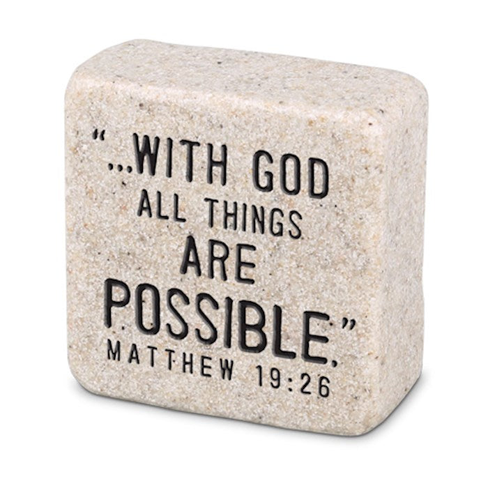Cast Stone Scripture Block - Faith