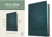 Load image into Gallery viewer, NLT Thinline Reference Bible - Teal Blue Leatherlike (Filament Enabled Edition)