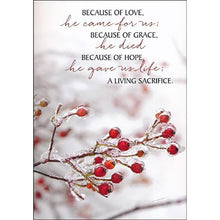 Load image into Gallery viewer, Boxed Christmas Cards - Because of Love (Box of 12)