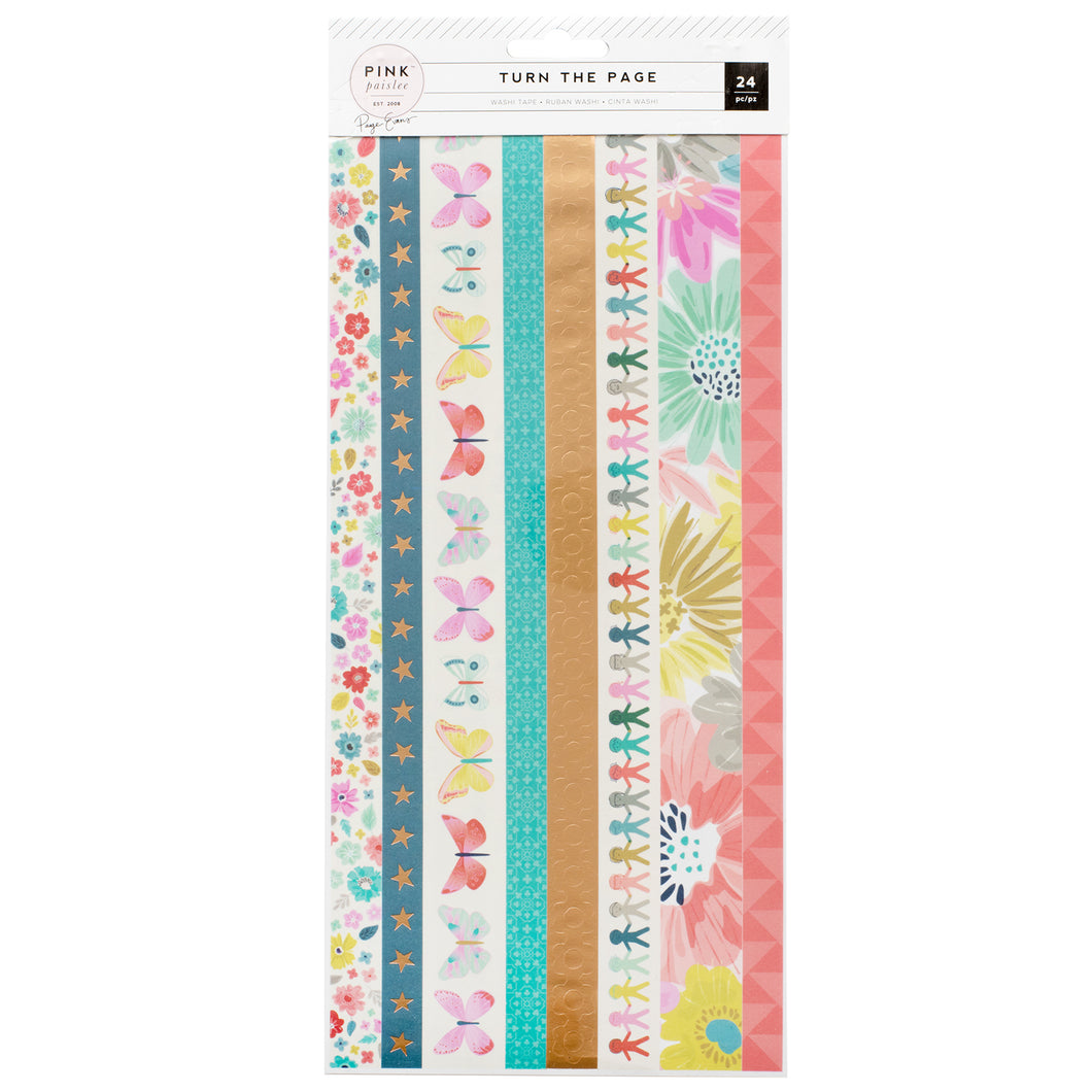Washi Tape - Turn the Page (Pink Paislee)