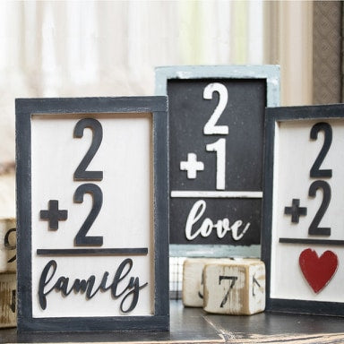 Family Number Wood Paint Kit