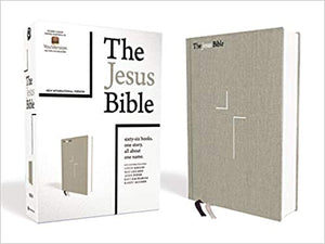 The Jesus Bible, NIV Edition, Cloth over Board, Gray Linen, Comfort Print Hardcover