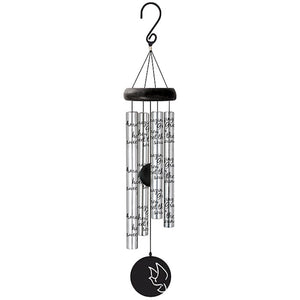 "Wind Chime - Sonnet - Amazing Grace (Silver - 21"")"
