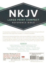 Load image into Gallery viewer, NKJV Large Print Compact Reference Bible (Pink Leathertouch)