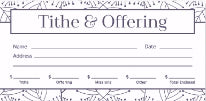 Offering Envelopes - Tithes & Offerings (Pack of 100)