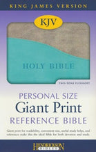 Load image into Gallery viewer, KJV Personal Size Giant Print Reference Bible (Imitation Leather, turquoise/gray)