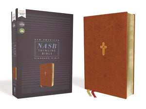 NASB Thinline Bible (Comfort Print) - Brown Leathersoft