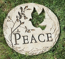 Load image into Gallery viewer, Garden Stone - Peace with Dove Cut-out