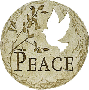 Garden Stone - Peace with Dove Cut-out