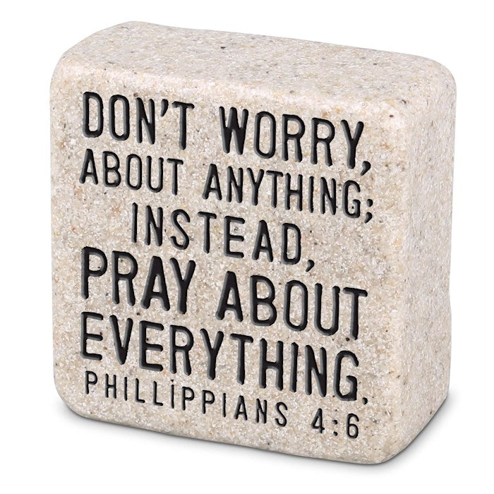 Cast Stone Scripture Block - Pray