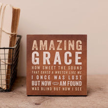 "Load image into Gallery viewer, Wood Art - ""Amazing Grace"""