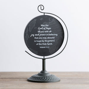 We're Blessed - Wooden Plaque with Metal Stand