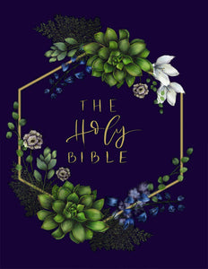 NIV Artisan Collection Bible (Comfort Print)-Navy Floral Cloth